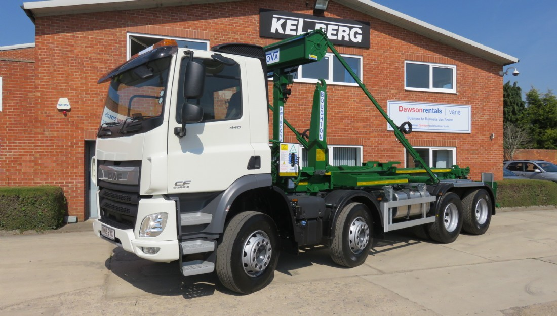 DAF CF440 8x4 Boughtons hook loader